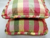 Plaid Pillows with large Ruched Cording