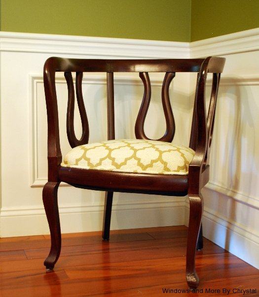 Upholstered Wooden Chair