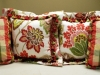 Floral Pillow and Plaid Pillows