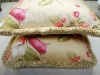Floral Pillow with Brush Fringe Trim