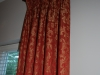 Close up of Drapes on Rod and Rings