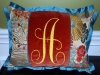Small Flange Edge Pillow with Monogram.
