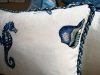 Close up of Sealife Pillows with Twisted Cording.