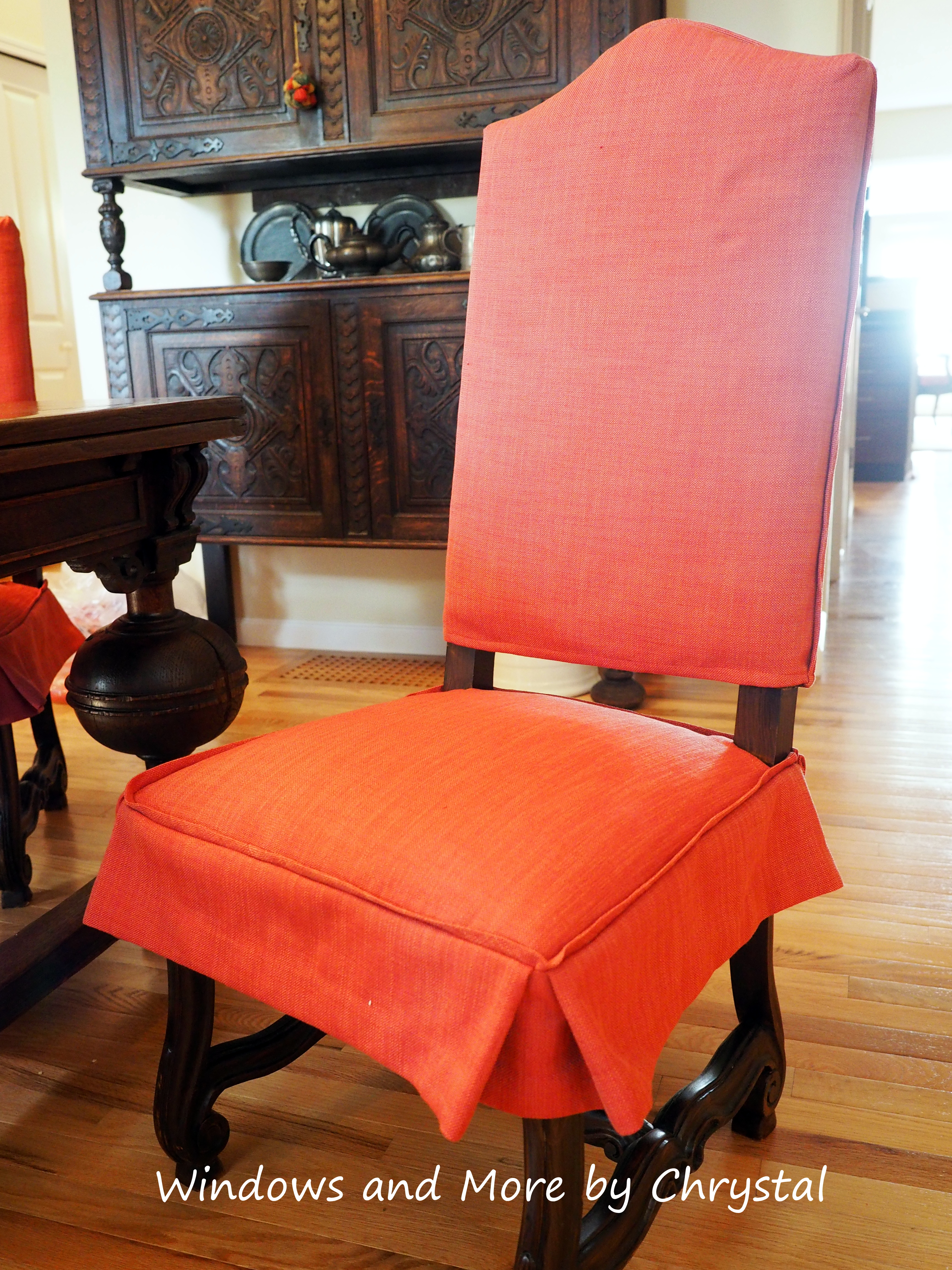 Dining Room Chair slipcovers with ties and