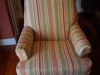 Striped Slipcovered Chair