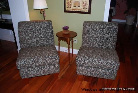 Upholstered Armless Chairs