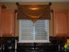 Triangle Banner over Flat Valance