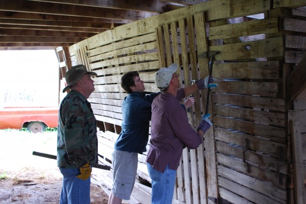Removing the barn doors