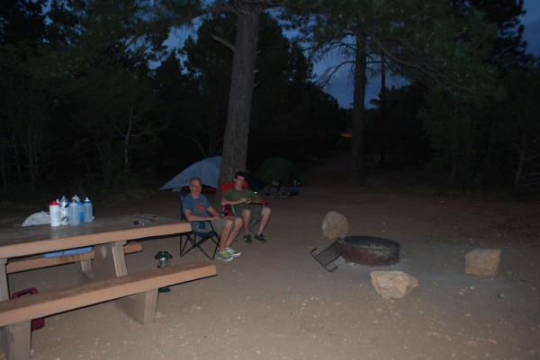 Campsite on the South Rim of the Grand Canyon