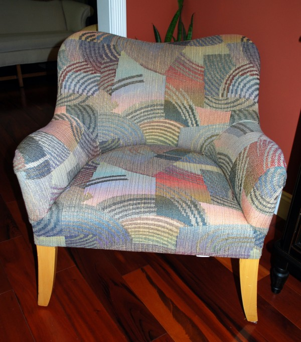 Contemporary Chair before slipcover