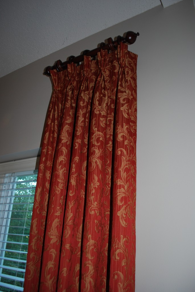 Drapery Panel on Rod and Rings