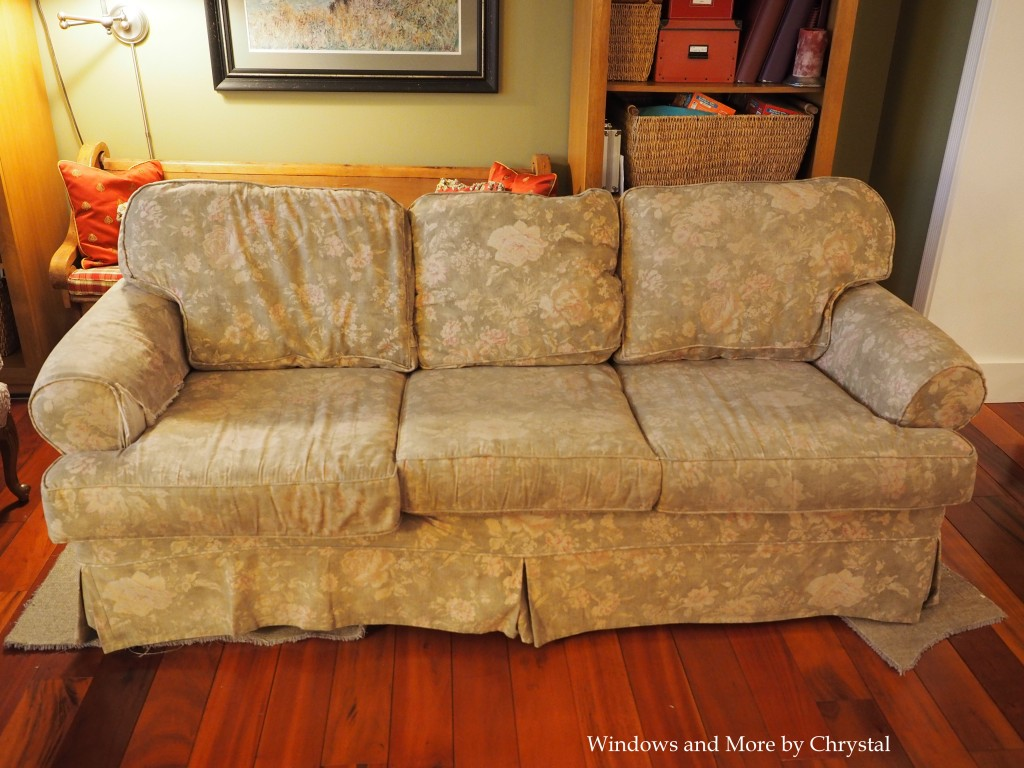 Old Floral Slipcover Sofa