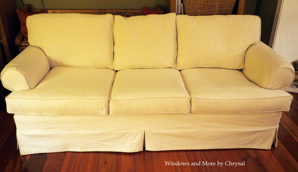 White Slipcover Sofa