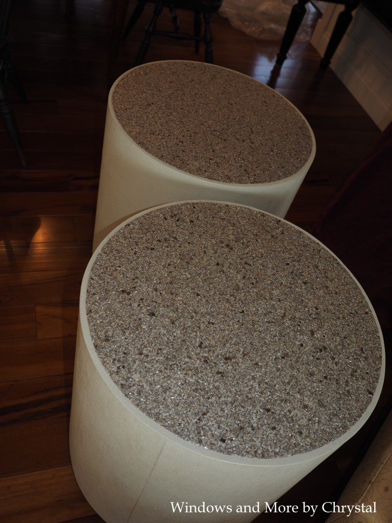 Mica Wallpaper End Tables