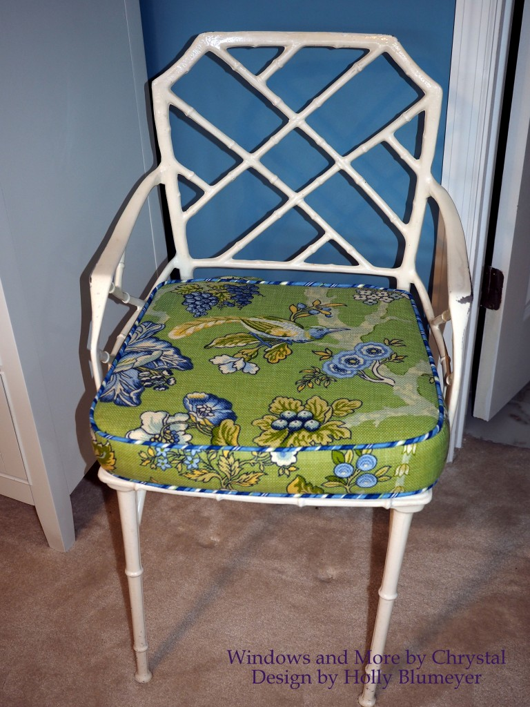 Green Floral Cushion Seat
