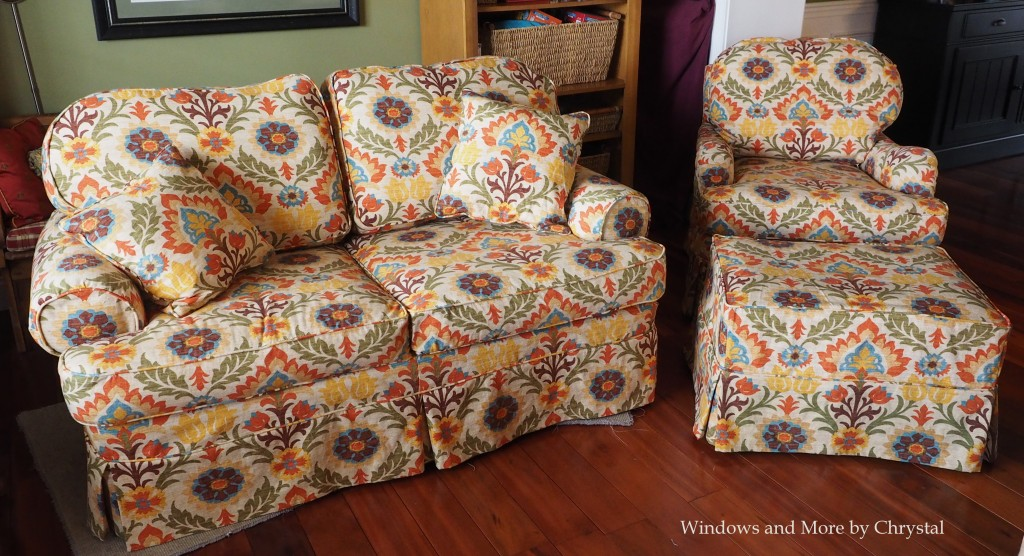 New  Pattern Matched Slipcovers