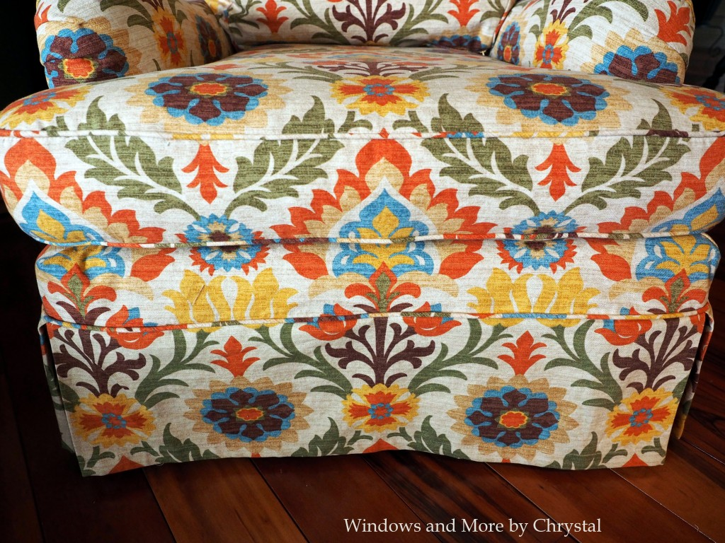 Pattern Matched Slipcovered Chair