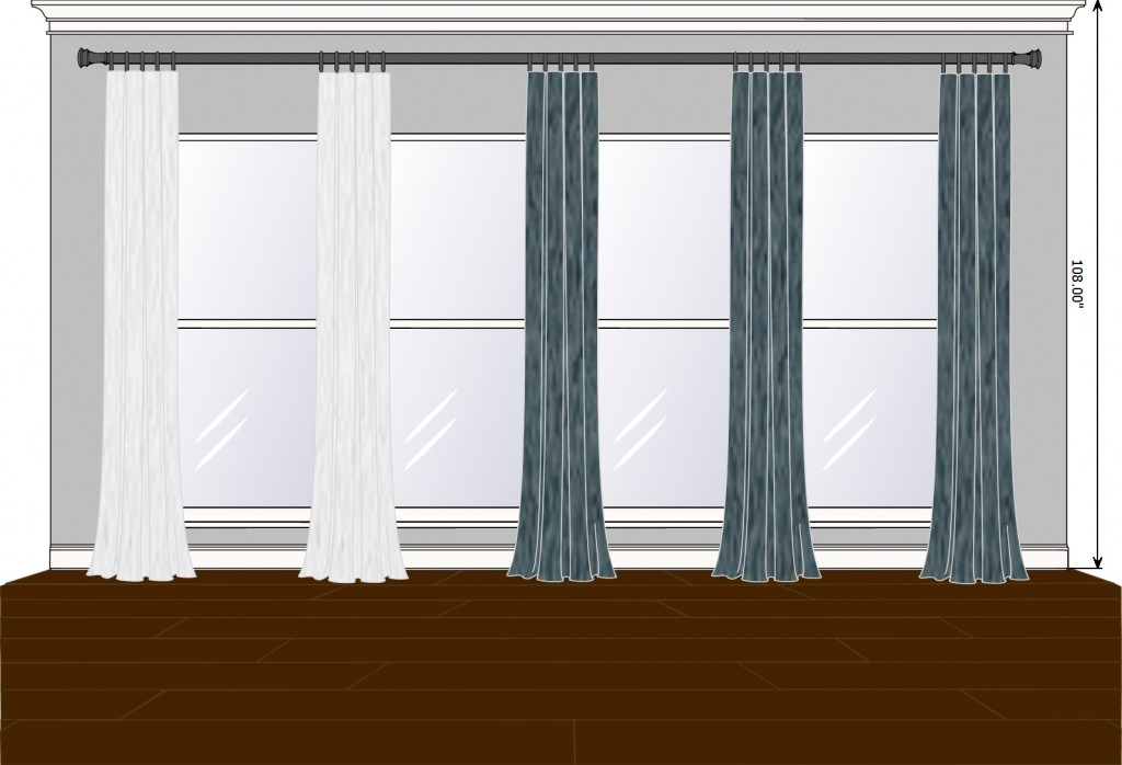 Family Room box pleat with fabric