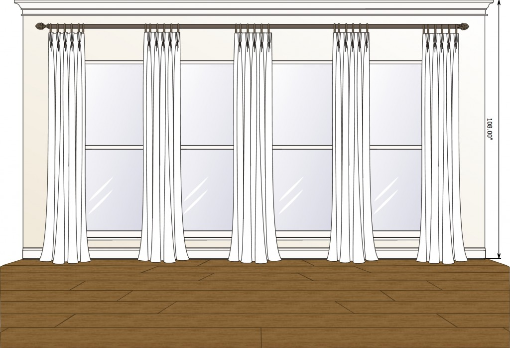 Family Room pinch pleat