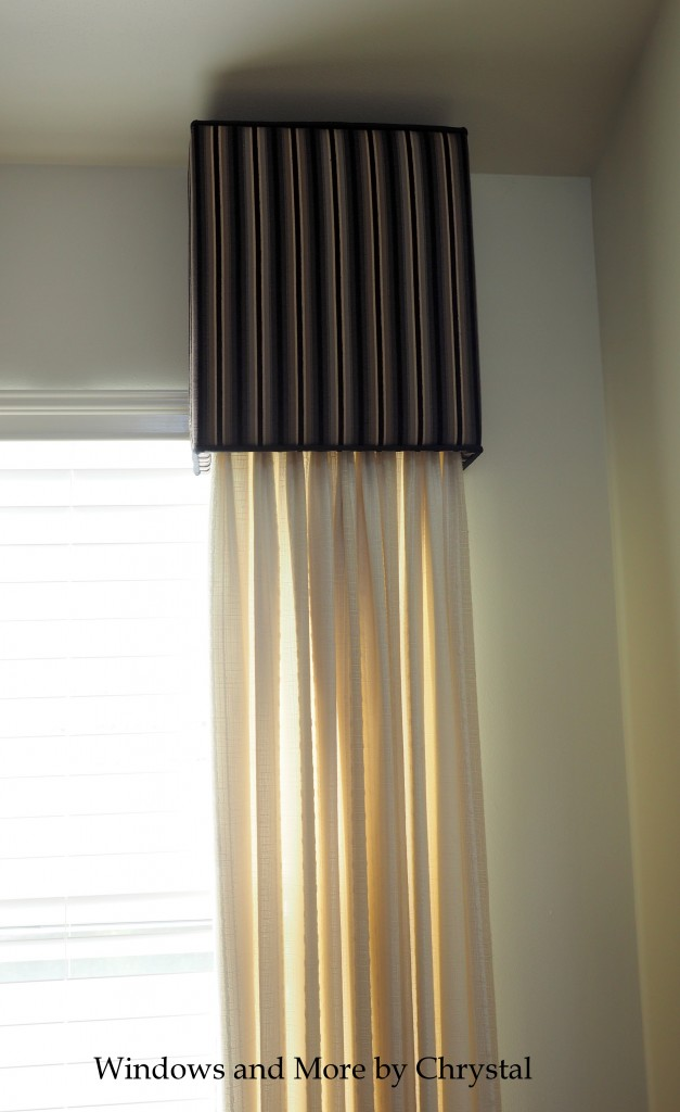 Cornice box and drapes