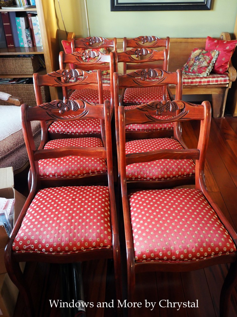 Recovered dining room seats
