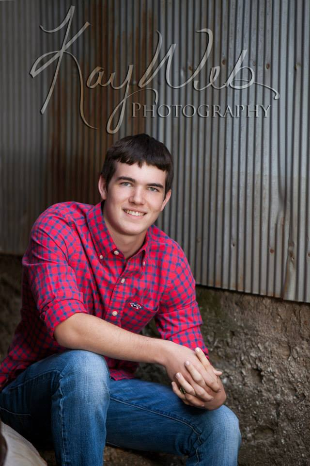 Ian senior pic. Red Shirt