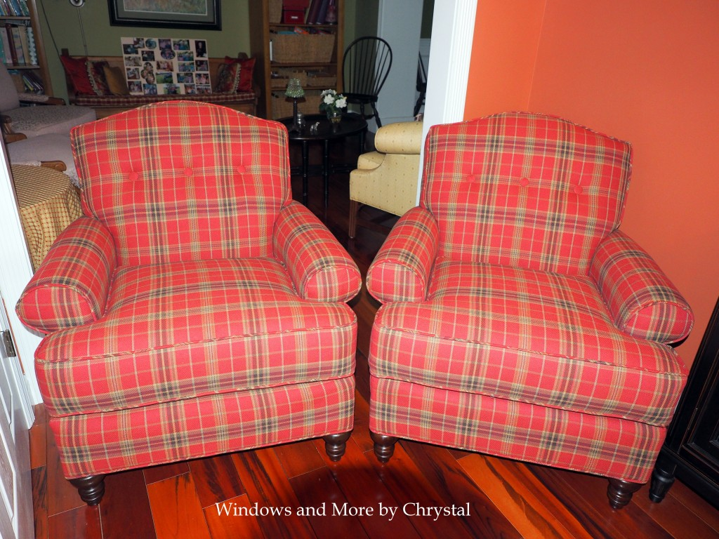Red Plaid Chairs