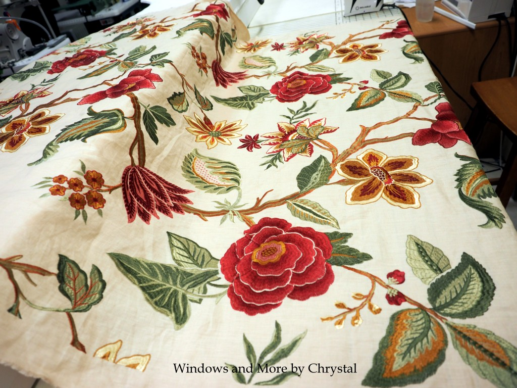 Floral Embroidered Linen Fabric