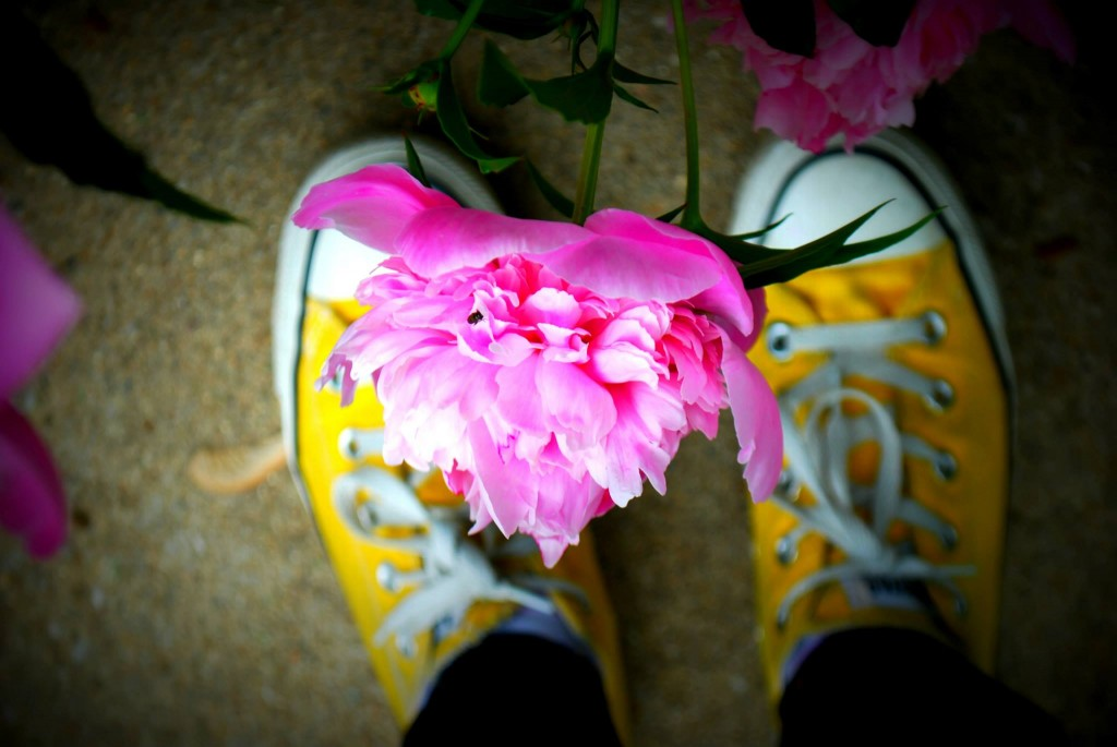 Syd's peonie and shoes