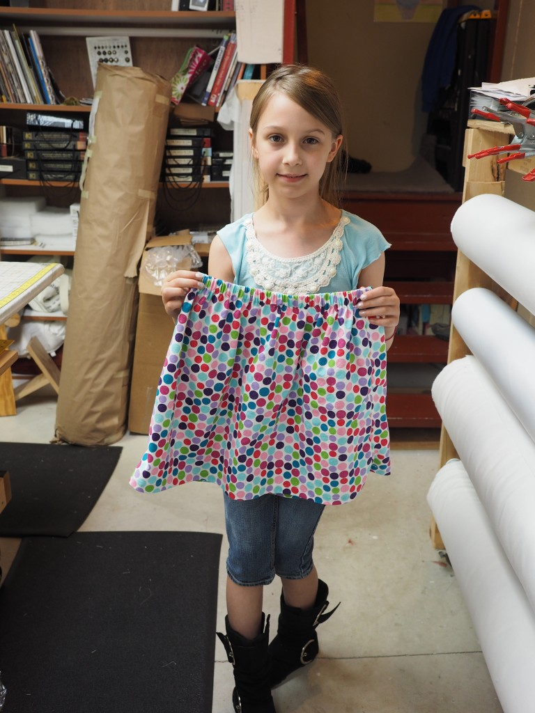 4-H'er with finished skirt.