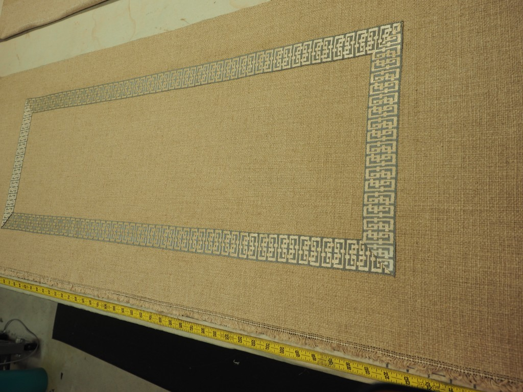 Attaching trim to a fabric