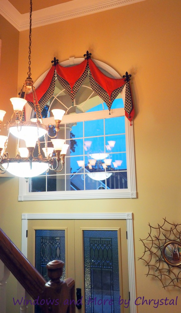 Arched Foyer Window Treatment : Bombay arched valance