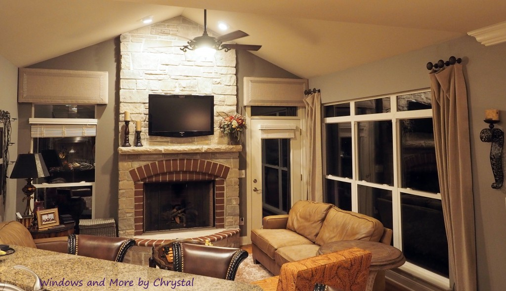 Slouch Panels and cornices with trim