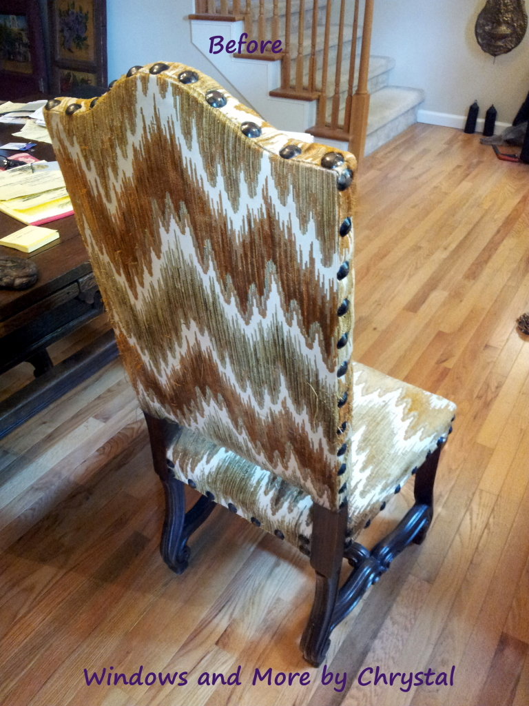 Before Slipcover Dining Room Chair