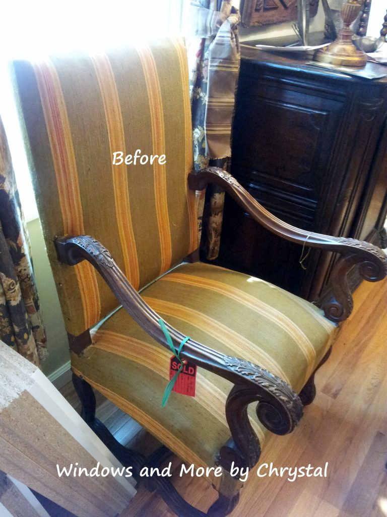 Before Slipcover Dining Room Arm Chair