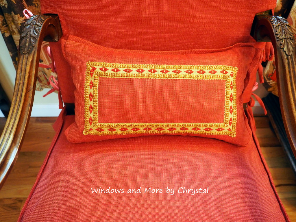 Pillow with Flange Edge and inset trim