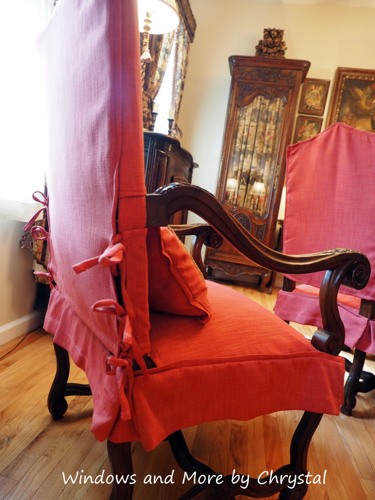 Slipcovered Arm Chair with Ties and skirt