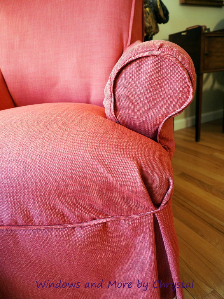 Slipcovered Chair with Flange trim