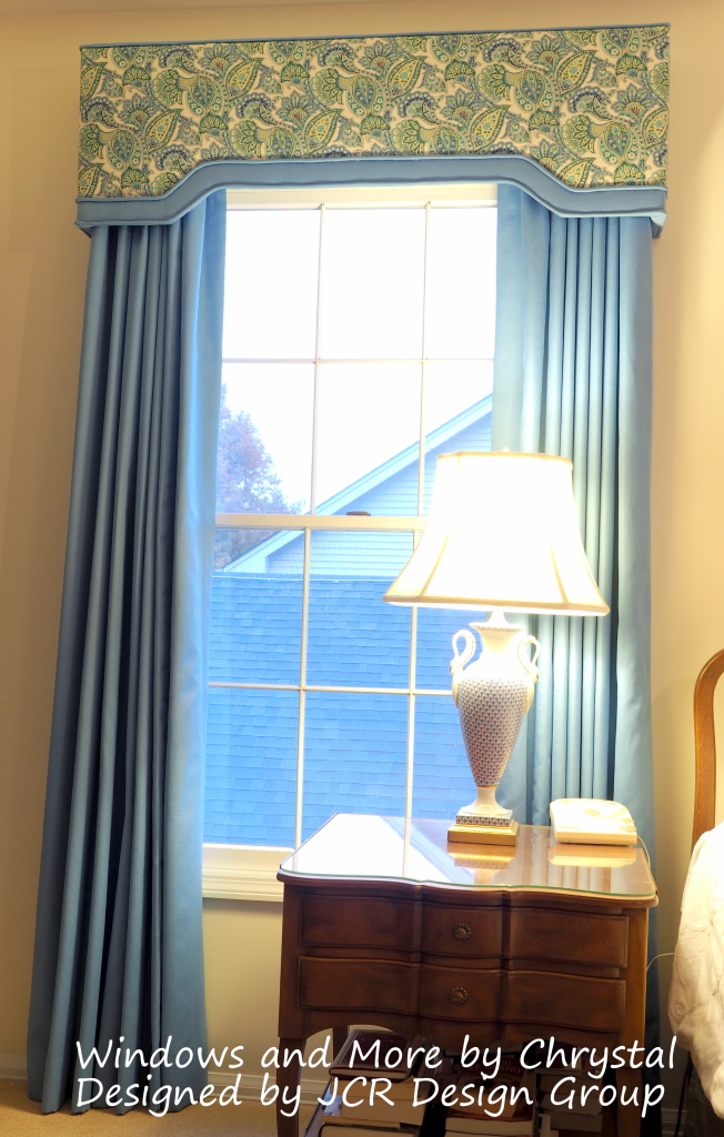 Master Bedroom Cornices and Drapes