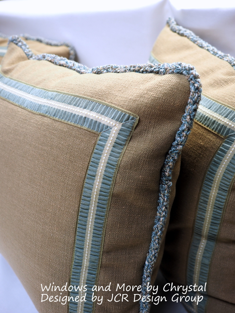 Pillows with Trim and Flat Braid