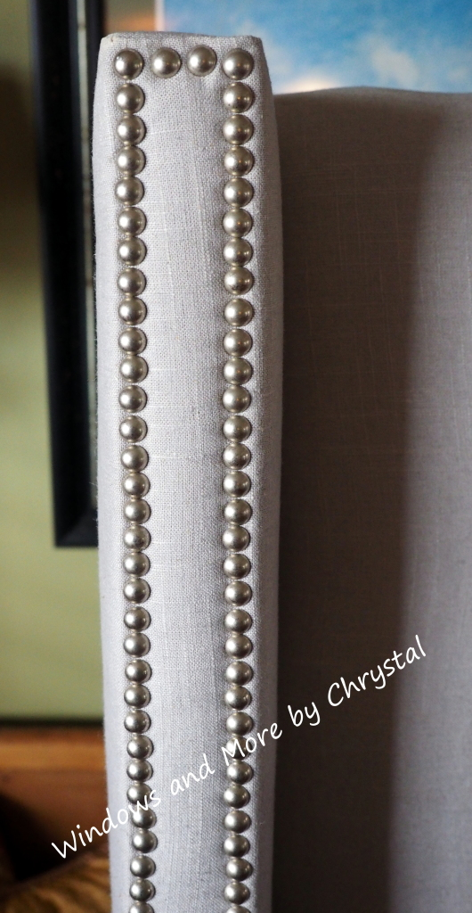 Nailheads on Uphostered Headboard