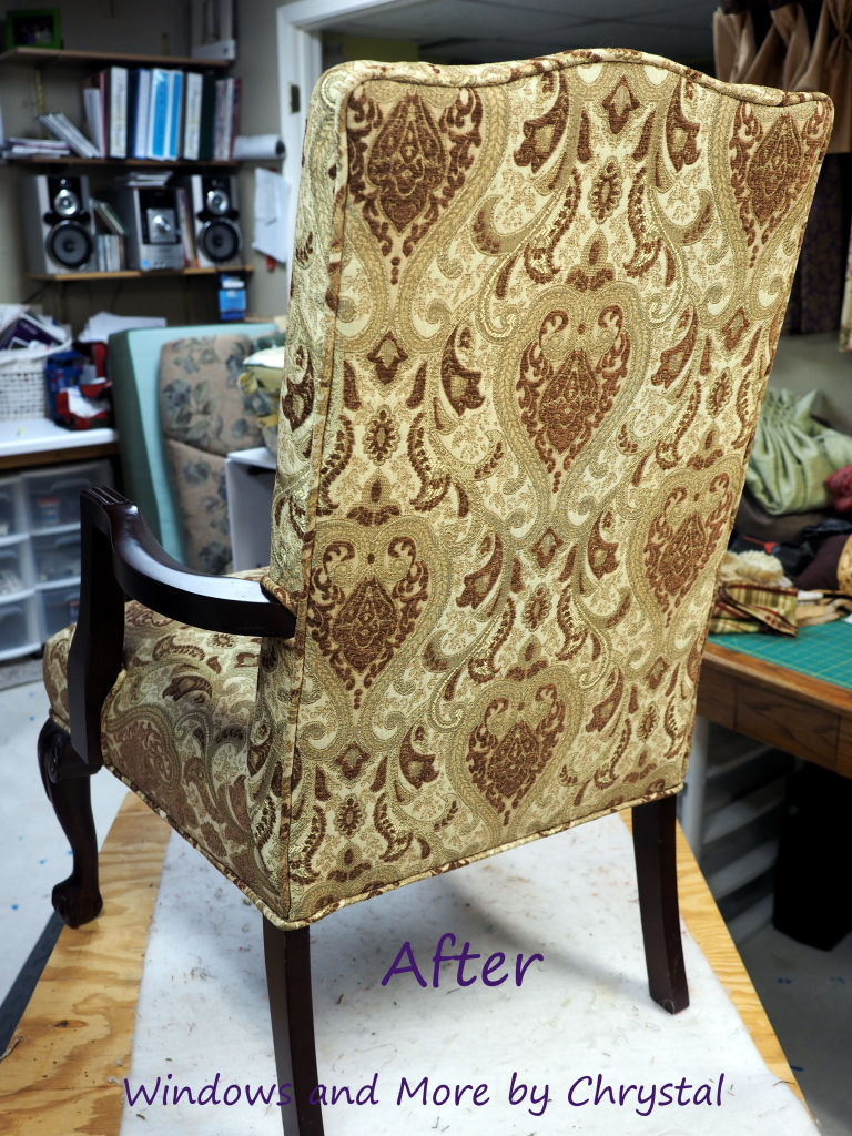 Re upholstered Arm Chair