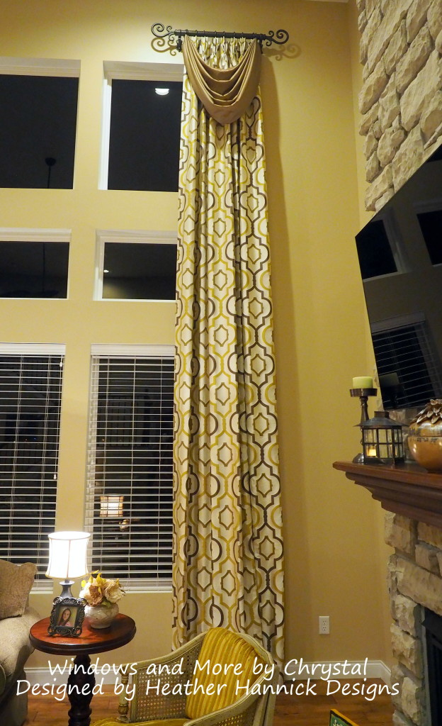 Tall Drapes and Swags with Helser Brothers Hardware