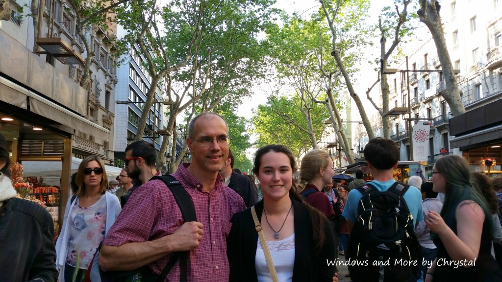 Hannah and Mark on La Rambla Street