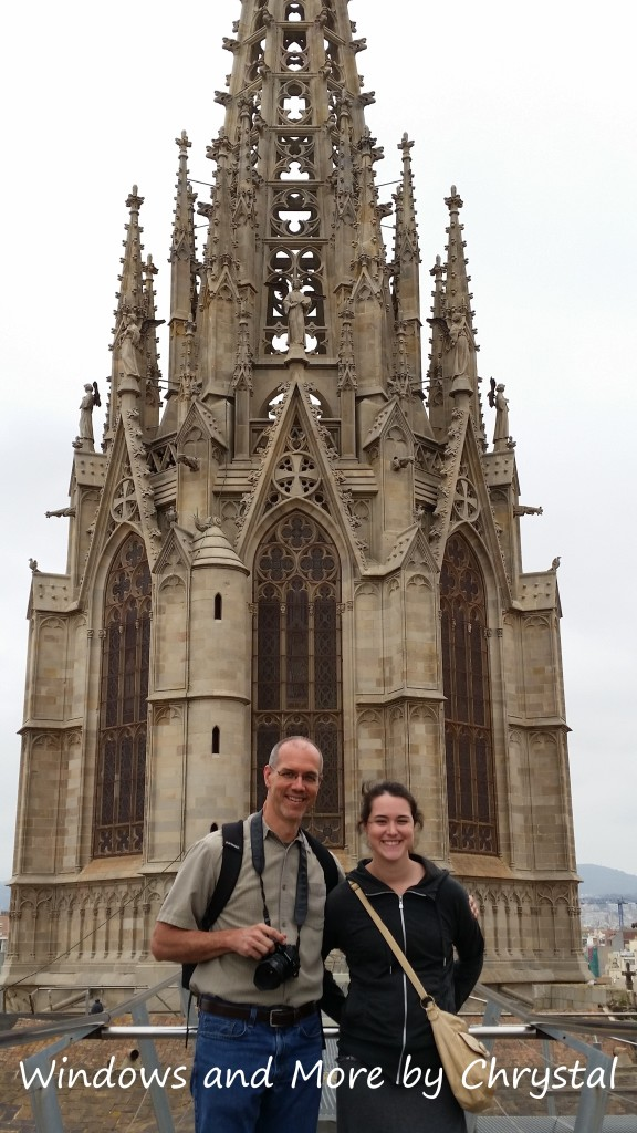 On top of Gothic Cathedral