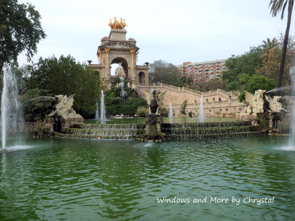 Fountains in Parc de la Ciutadella