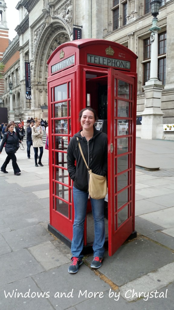 Hannah in a Telephone Booth