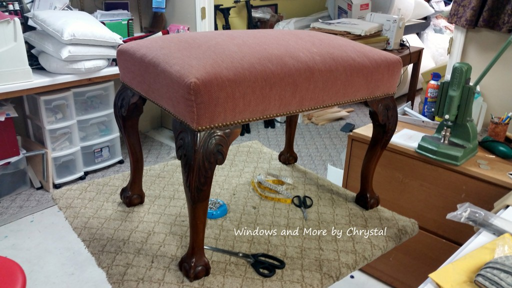Ottoman to be slipcovered