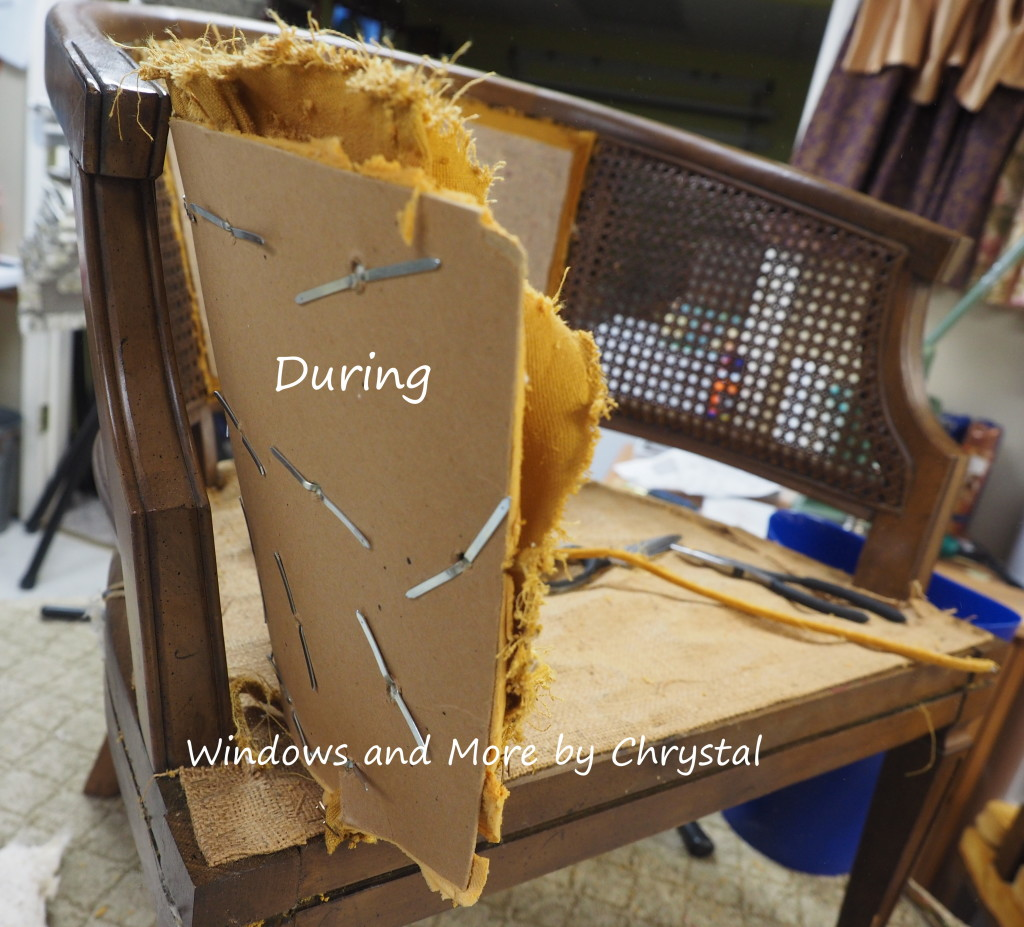 Stripping a chair