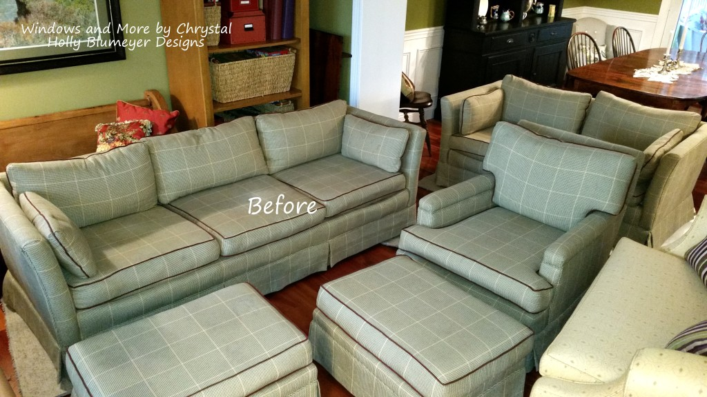 Family Room Furniture before reupholstering